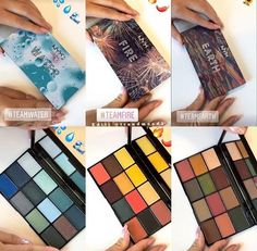 Nyx elements palettes: Water, Fire, Earth! Coming September