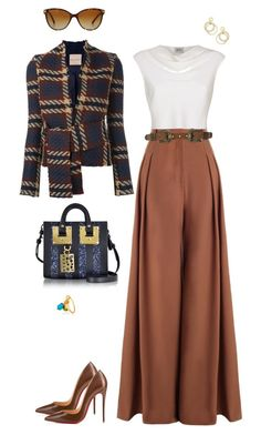 """Nikki."" by srtagraham ❤ liked on Polyvore featuring Erika Cavallini Semi-Couture, Armani Collezioni, Zimmermann, ADA Collection, Christian Louboutin, Sophie Hulme, Kate Spade and Burberry"
