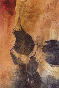 Skull Watercolor 3 by *SketchbookNoir on deviantART