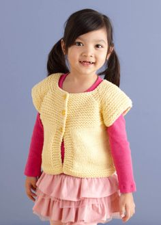 Free Pattern. Neck Down Cardi sizes 6 months to 10 years