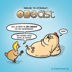 000 Plofkip - Evert Kwok Cartoons - droge humor, woordgrappen & bananen