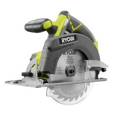 This RYOBI 18 Volt ONE+ in. Circular Saw, featuring a new, more powerful motor that provides cutting performance equivalent to a corded circular saw, but with the portable convenience of a battery operated tool. This new ONE+ Circular Saw als Ryobi Power Tools, Ryobi Tools, Installing Shiplap, Installing Laminate Flooring, Diy Flooring, Home Improvement Projects, Home Projects, Best Circular Saw, Skill Saw