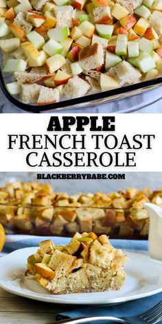 Make this Apple French Toast Casserole for breakfast or brunch! Wonderful overnight casserole recipe, or make 1 hour before! French Toast Recipe Apple French Toast Make Ahead Breakfast Casserole, Easy To Make Breakfast, French Toast Casserole, Savory Breakfast, Perfect Breakfast, Healthy Breakfast Recipes, Brunch Recipes, Appetizer Recipes, Breakfast Time