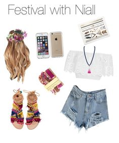 """""""Festival with Niall🏜"""" by onedirection-fanfictionclothing ❤ liked on Polyvore featuring Rock 'N Rose, Miguelina, Elina Linardaki, Hipanema, BaubleBar and Speck"""