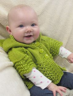# 1505 Lacy Baby Hoodie | Knitting Pure And Simple