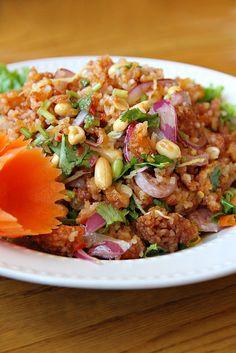 Naem Khao Tod (แหนมข้าวทอด)  Recipe courtesy of Spoon Thai Restaurant, Chicago