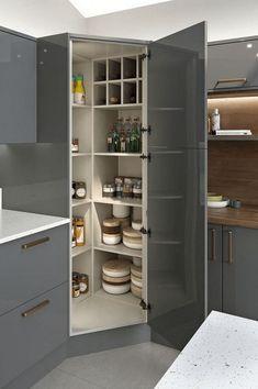 Kitchen Pantry Design, Modern Kitchen Design, Home Decor Kitchen, Interior Design Kitchen, Home Design, New Kitchen, Design Ideas, Kitchen Ideas, Kitchen Cupboard