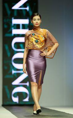 Vietnam Fashion Week SS15 - Ready to wear. Designer: LAN HUONG. Photo: Nguyen Thanh Dat