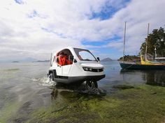 An amphibious vehicle perfect for flooded Philippine cities. Philippines Cities, Amphibious Vehicle, Pi Projects, Swimming Holes, The Province, Island Beach, Pinoy, Tricycle, Hotels And Resorts