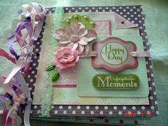 Scrapbooking by Phyllis: Premade 8x8 Paper Bag Scrapbook Album *Happy Day*