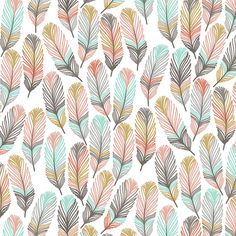 """Horizon Feathers Changing Pad Cover by Primal Vogue™ - 32"""" x 16"""" x 4""""  - Gold, Grey, Charcoal, Coral, Pink, Teal - 100% Cotton - Designer"""