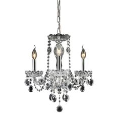Balmoral 3-Light Crystal Chandelier in Clear
