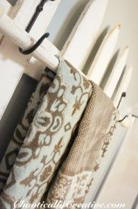 PICKET FENCE IDEAS      towel bar, bathroom ideas, repurposing upcycling, storage ideas