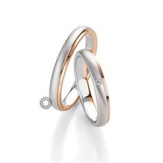 Βέρες γάμου BENZ 051  amp  052 - Πρωτότυπες γαμήλιες βέρες Benz με  διακριτικό γυαλιστερό ροζ 012852cce04