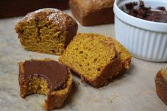 Pumpkin Spice Bread with Chocolate Cream Cheese Spread