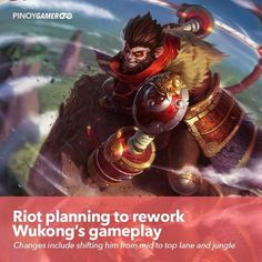 Riot planning to rework Wukong's gameplay Game R, Mobile Legends, Pinoy, Streamers, League Of Legends, Philippines, Community, Sun, How To Plan