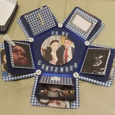 #explodingbox #gift #anniversary #scrapbooking #handmade #diy #handmadegift #couple #navyblue #scrapbook #photos