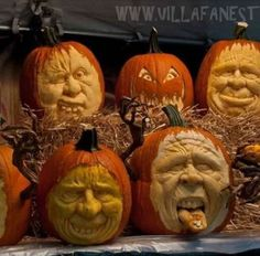 Actual pumpkins created & carved by Ray Villafane