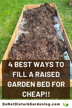Gardens Discover 4 Best Ways to Fill a Raised Garden Bed for CHEAP! Learn 4 different organic ways you can fill your raised garden bed for cheap to help you save money. Cheap Raised Garden Beds, Raised Flower Beds, Raised Vegetable Gardens, Building Raised Garden Beds, Veg Garden, Vegetable Garden Design, Lawn And Garden, Raised Gardens, Garden Boxes
