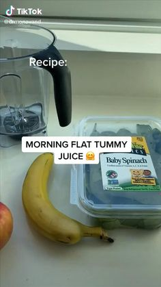 Healthy Juices, Healthy Drinks, Healthy Snacks, Keto Snacks, Fruit Smoothie Recipes, Easy Smoothies, Good Healthy Recipes, Healthy Breakfast Recipes, Flat Tummy Foods