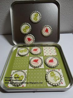Travel Tic-Tac-Toe Game - Can use an Altoid can, or any other lidded magnetic can.