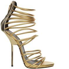 gold t-strap heels paciotti | Shop - Designer High Heels from Online Shoe Stores - Shoerazzi 2012