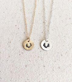 Tiny Antler Necklace  Everyday Necklace  14k Gold by GemLark