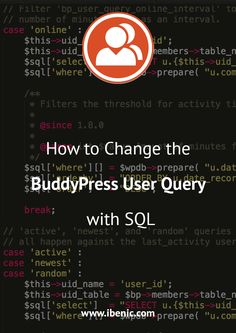 Learn how to filter the BuddyPress User Query with SQL. In this article, you will see how to show only active users from MemberPress plugin. Learn Wordpress, Wordpress Plugins, Wordpress Theme, Online S, How To Start A Blog, Web Development, Internet Marketing, Filters, About Me Blog
