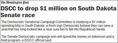 """Democrats have sunk to a new low yet again. First they promoted a """"fake independent"""" candidate in Kansas, Greg Orman, in an attempt to fool voters and steal a Republican Senate seat - as part of their desperate measures to prevent losing their majority in the U.S. Senate. Now they are at it again in South Dakota. http://us9.campaign-archive1.com/?u=2779e674971678dbc3a565983&id=decdb664a1"""