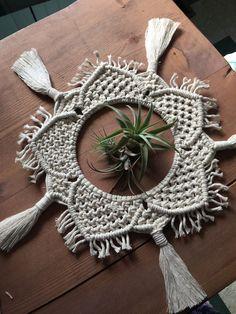 Macrame Mandala / Table Decor / Table Centrepiece / Wedding Decor / Macrame Plant Skirt