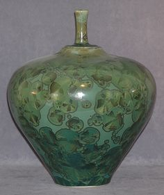 Surfside Studio - Crystalline Glaze Pottery. Special glazing technique creates unique patterns. South Shore, Mass.