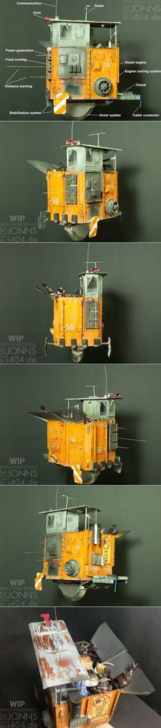 1:35 Garbage Hovertruck WIP, almost finished