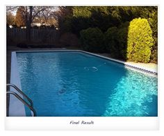 The final result is total swimming pool renovation!
