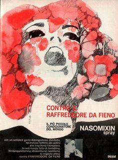 Progetto grafico della pagina pubblicitaria, Alfredo Mastellaro. Illustrazione di Paolo Guidotti  Disegno della copertina Guido Crepax, (1933-2003).
