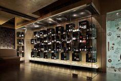 Concrete Blonde Restaurant - Wine Display