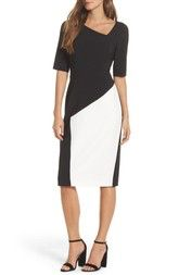 Maggy London Asymmetrical Sheath Dress available at #Nordstrom