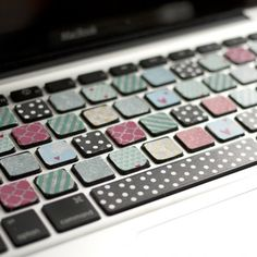 Make your Macbook keyboard cute with the help of a variety of washi tape! Although it's super tedious, this tutorial is worth the time!