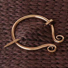 Fish Tail Penannular Shawl Pin