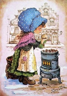 Qui était Mary May Sarah Key, Vintage Pictures, Vintage Images, Cute Pictures, Holly Hobbie, Mary May, Cute Illustration, Vintage Cards, Vintage Children