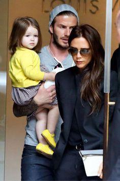 Harper, David and Victoria Beckham photo