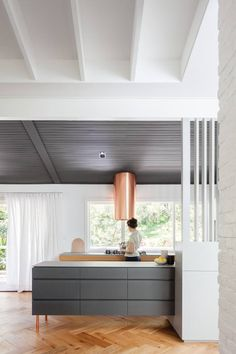 Riverview is a minimal home located in Sydney, Australia, designed by Nobbs Radford Architects. See more at Leibal. Modern Kitchen Design, Interior Design Kitchen, Kitchen Designs, Contemporary Decor, Modern Decor, Modern Lamps, Kitchen Contemporary, Mid Century Modern Kitchen, Minimal Home