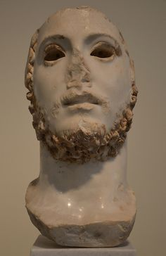 Colossal portrait of a new man, possibly Commodus, found in Athens, 180-192 AD, National Archaeological Museum of Athens ..