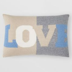 Rani Arabella Cashmere Love Pillow, x Home - Bloomingdale's Burlap Pillows, Bed Pillows, Cushions, Cashmere, Hand Crafts, Embroidery, Love, House Ideas, Heart