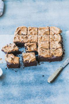 Espresso Brownies with Caramelised White Chocolate Ganache