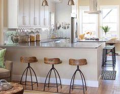 Wood + Iron Barstools
