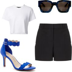 summer day by osrodzari on Polyvore featuring polyvore fashion style Proenza Schouler Alexander Wang Sole Society Karen Walker Eyewear