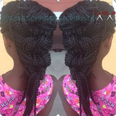 Protective Style w/ box braids - http://www.blackhairinformation.com/community/hairstyle-gallery/braids-twists/protective-style-w-box-braids/ #braids #twists #protectivestyle