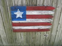 Americana Flag from an old privacy fence