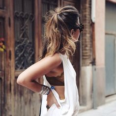 muscle tank with lacy bralette