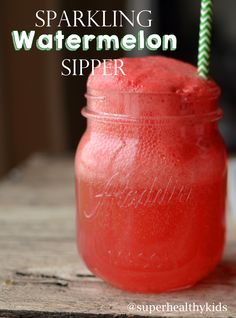 Sparkling Watermelon Sippers- www.superhealthykids.com